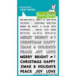 Lawn Fawn - Clear Photopolymer Stamps - Offset Sayings - Christmas