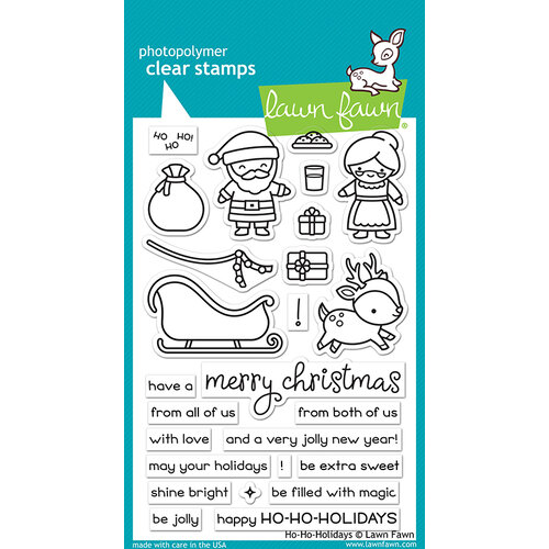 Lawn Fawn - Christmas - Clear Photopolymer Stamps - Ho-Ho-Holidays