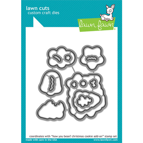 Lawn Fawn - Lawn Cuts - Dies - How You Bean Christmas Cookie Add-On