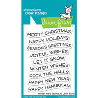 Lawn Fawn - Christmas - Clear Photopolymer Stamps - Winter Wavy Sayings