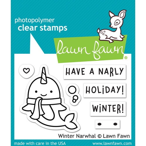 Lawn Fawn - Christmas - Clear Photopolymer Stamps - Winter Narwhal
