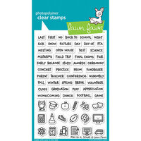 Lawn Fawn - Christmas - Clear Photopolymer Stamps - Plan On It - School