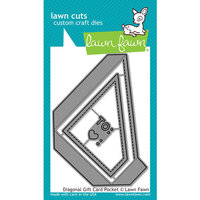 Lawn Fawn - Lawn Cuts - Dies - Diagonal Gift Card Pocket
