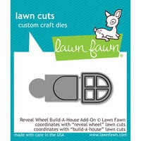 Lawn Fawn - Lawn Cuts - Dies - Reveal Wheel Build-A-House Add-On