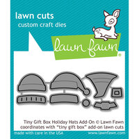 Lawn Fawn - Christmas - Lawn Cuts - Dies - Tiny Gift Box Holiday Hats Add-On