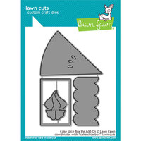 Lawn Fawn - Lawn Cuts - Dies - Cake Slice Box Pie Add-On