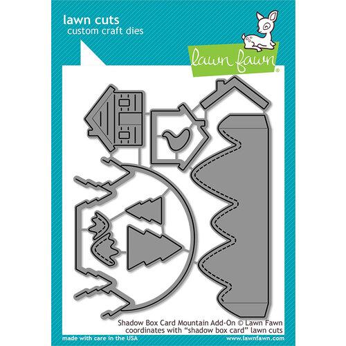 Lawn Fawn - Christmas - Lawn Cuts - Dies - Shadow Box Card Mountain Add-On