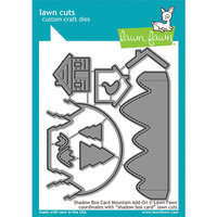 Lawn Fawn - Christmas - Lawn Cuts - Dies - Shadow Box Card Mountain Add-On