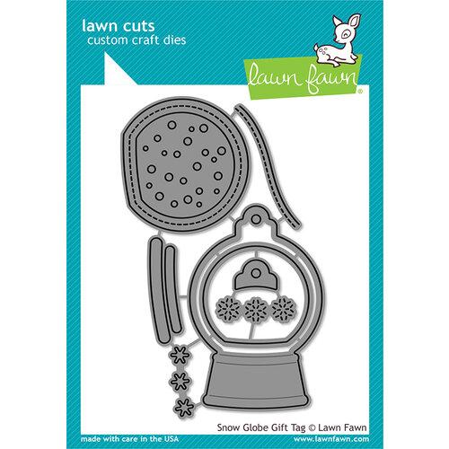 Lawn Fawn - Christmas - Lawn Cuts - Dies - Snow Globe Gift Tag