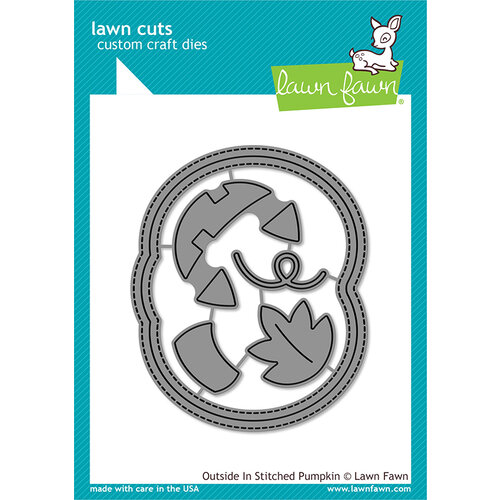 Lawn Fawn - Halloween - Lawn Cuts - Dies - Outside-In Stitched Pumpkin