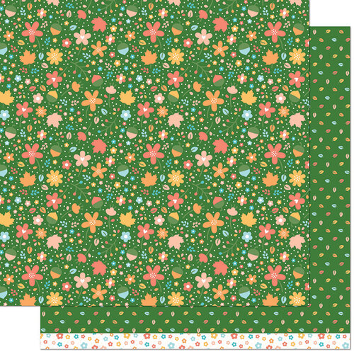 Lawn Fawn - Fall Fling Collection - 12 x 12 Double Sided Paper - Linda
