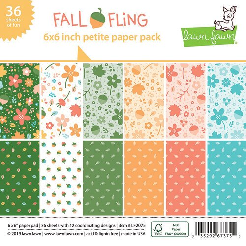 Lawn Fawn - Fall Fling Collection - 6 x 6 Petite Paper Pack