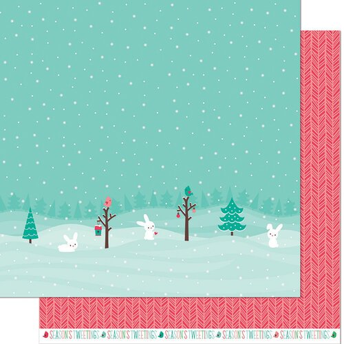 Lawn Fawn - Snow Day Remix Collection - 12 x 12 Double Sided Paper - Snowboots Remix