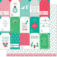Lawn Fawn - Snow Day Remix Collection - 12 x 12 Double Sided Paper - Hoodie Remix
