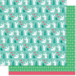 Lawn Fawn - Snow Day Remix Collection - 12 x 12 Double Sided Paper - Wool Socks Remix