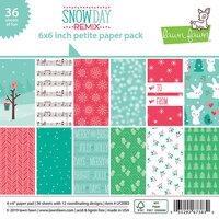 Lawn Fawn - Snow Day Remix Collection - 6 x 6 Petite Paper Pack