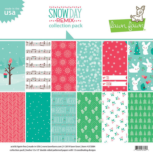 Lawn Fawn - Snow Day Remix Collection - 12 x 12 Collection Pack