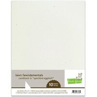 Lawn Fawn - 8.5 x 11 Cardstock - Speckled Eggshell - 10 Pack