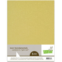 Lawn Fawn - 8.5 x 11 Cardstock - Gold Rush - 5 Pack