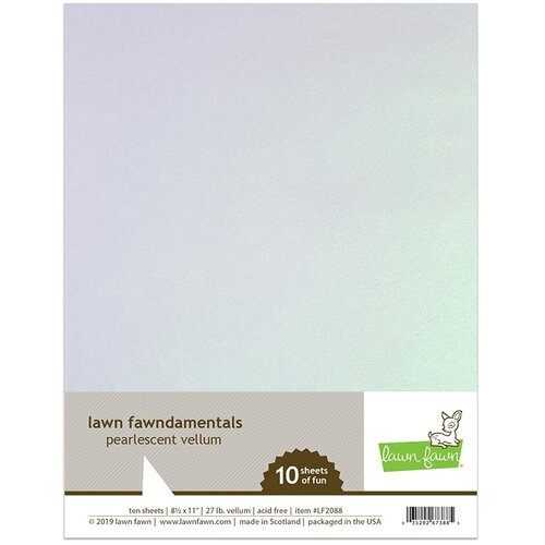 Lawn Fawn - 8.5 x 11 Vellum - Pearlescent - 10 Pack