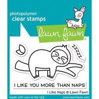 Lawn Fawn - Clear Photopolymer Stamps - I Like Naps