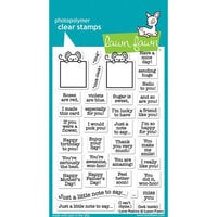 Lawn Fawn - Clear Photopolymer Stamps - Love Poems