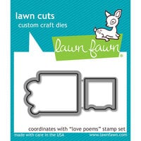 Lawn Fawn - Lawn Cuts - Dies - Love Poems