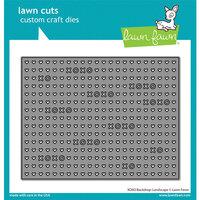Lawn Fawn - Lawn Cuts - Dies - XOXO Backdrop - Landscape