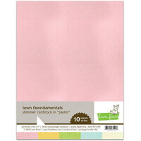 Lawn Fawn - 8.5 x 11 - Shimmer Cardstock - Pastel - 10 Pack