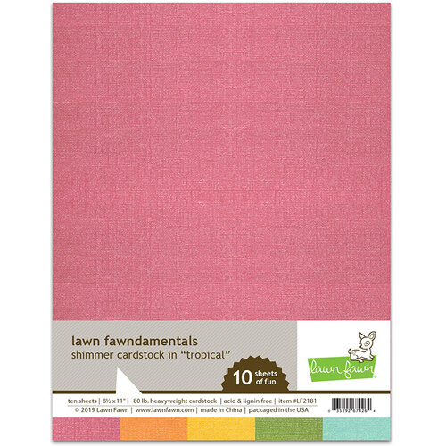 Lawn Fawn - 8.5 x 11 - Shimmer Cardstock - Tropical - 10 Pack