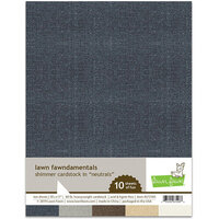 Lawn Fawn - 8.5 x 11 - Shimmer Cardstock - Neutrals - 10 Pack
