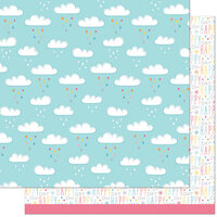 Lawn Fawn - Hello Sunshine Remix Collection - 12 x 12 Double Sided Paper - Skyler Remix