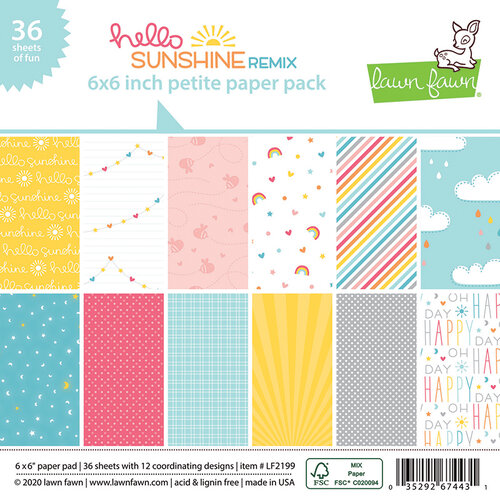 Lawn Fawn - Hello Sunshine Remix Collection - 6 x 6 Petite Paper Pack