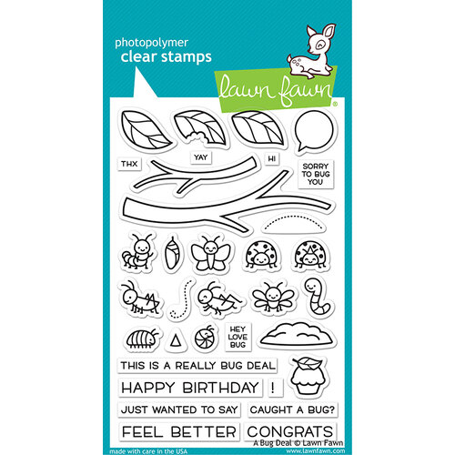 Lawn Fawn - Clear Photopolymer Stamps - A Bug Deal