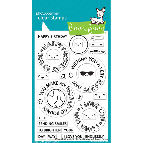 Lawn Fawn - Clear Photopolymer Stamps - Reveal Wheel Circle Sentiments