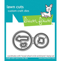 Lawn Fawn - Lawn Cuts - Dies - Reveal Wheel Circle Sentiments