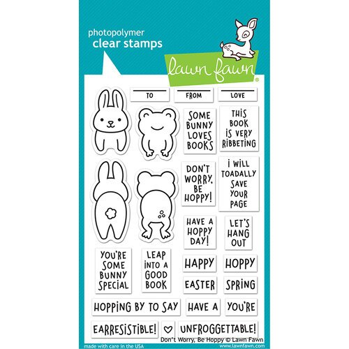 Lawn Fawn - Clear Photopolymer Stamps - Don't Worry, Be Hoppy