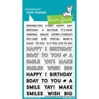 Lawn Fawn - Clear Photopolymer Stamps - Offset Sayings - Birthday