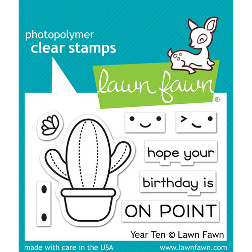 Lawn Fawn - Clear Photopolymer Stamps - Year Ten