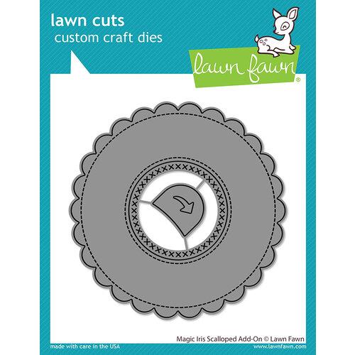 Lawn Fawn - Lawn Cuts - Dies - Magic Iris Scalloped Add-On