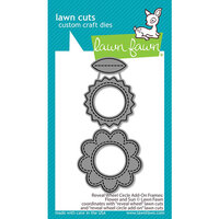 Lawn Fawn - Lawn Cuts - Dies - Reveal Wheel Circle Add-On Frames - Flower and Sun