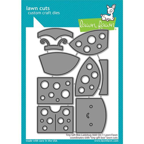 Lawn Fawn - Lawn Cuts - Dies - Tiny Gift Box Ladybug Add-On
