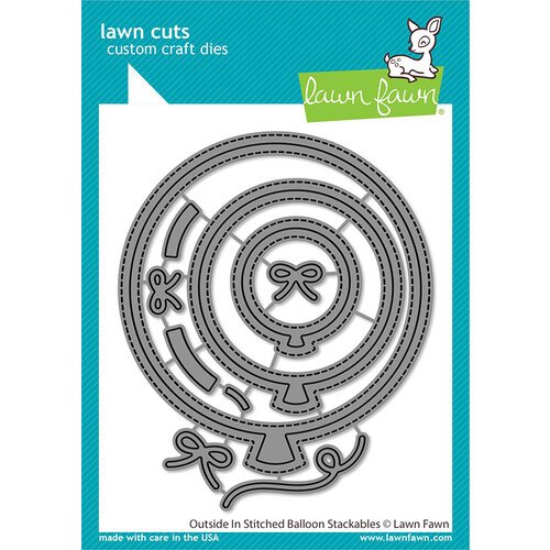 Lawn Fawn - Lawn Cuts - Dies - Outside In Stitched Balloon Stackables