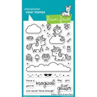 Lawn Fawn - Clear Photopolymer Stamps - Unicorn Picnic