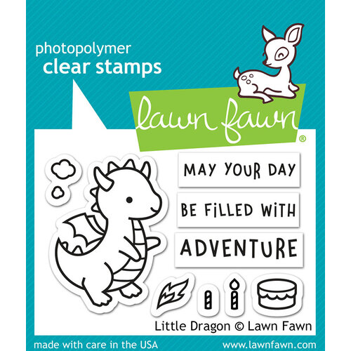 Lawn Fawn - Clear Photopolymer Stamps - Little Dragon