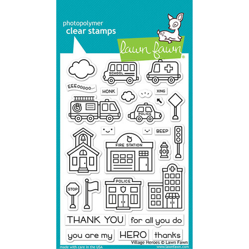 Lawn Fawn - Clear Photopolymer Stamps - Village Heroes