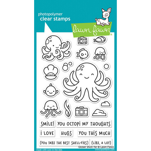 Lawn Fawn - Clear Photopolymer Stamps - Ocean Shell-fie