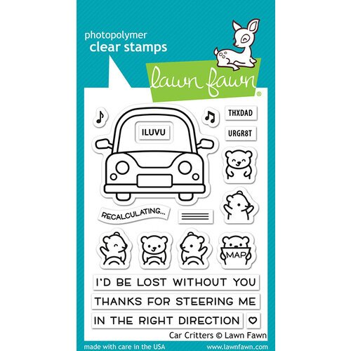 Lawn Fawn - Clear Photopolymer Stamps - Car Critters