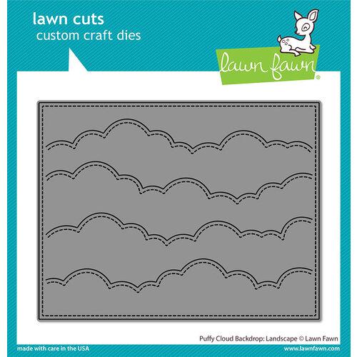 Lawn Fawn - Lawn Cuts - Dies - Puffy Cloud Backdrop - Landscape