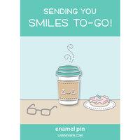 Lawn Fawn - Enamel Pin - Smiles To-Go